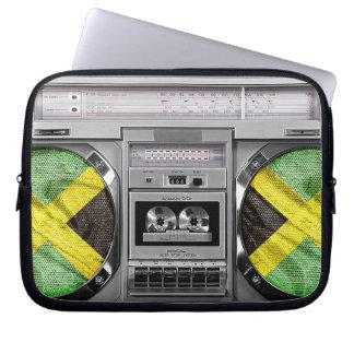 Jamaica boombox laptop computer sleeves