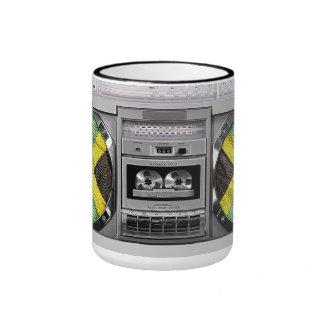 Jamaica boombox ringer coffee mug