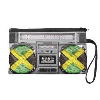 Jamaica boombox wristlet purse