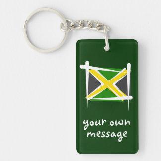 Jamaica Brush Flag Keychain