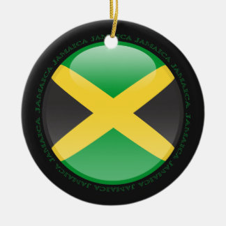 Jamaica Bubble Flag Ceramic Ornament