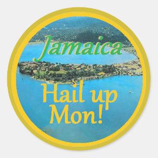 JAMAICA CLASSIC ROUND STICKER