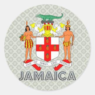 Jamaica Coat of Arms Classic Round Sticker