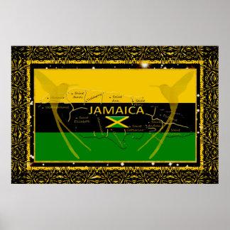 Jamaica Colors Parishes Humming Bird Poster