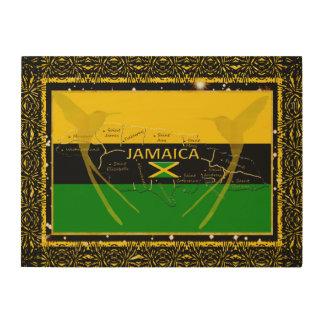 Jamaica Colors Parishes HummingBird Wood Wall Art1 Wood Wall Art