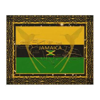 Jamaica Colors Parishes HummingBird Wood Wall Art2 Wood Wall Art