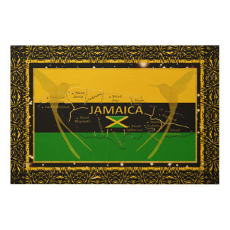 Jamaica Colors Parishes HummingBird Wood Wall Art4 Wood Wall Decor