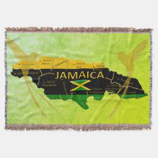 Jamaica Colors Parishes Sunlight Throw Blanket
