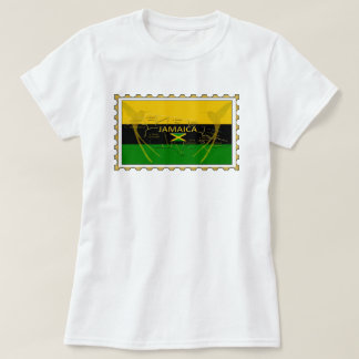 Jamaica Colours Humming Birds Stamp T-Shirt