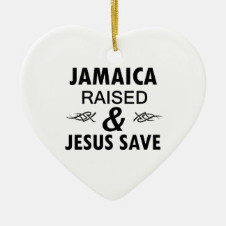 Jamaica designs ceramic heart ornament