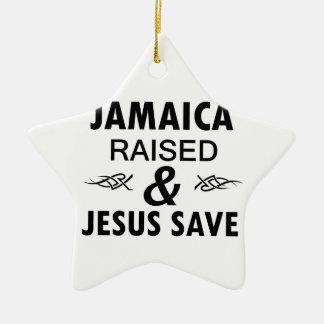 Jamaica designs ceramic ornament