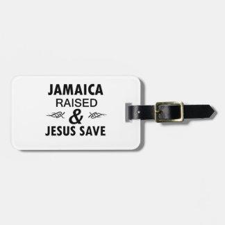 Jamaica designs luggage tag