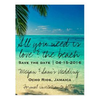 Jamaica Destination Wedding Save the Date Postcard