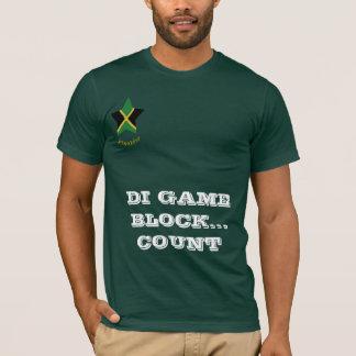 """Jamaica """"Di Game Block"""" Domino T Shirt"""