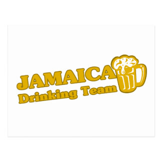 Jamaica Drinking Team Postcard