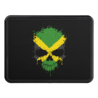 Jamaica Dripping Splatter Skull Trailer Hitch Cover