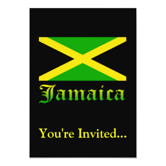 Jamaica Flag, Black, Green and Yellow Card