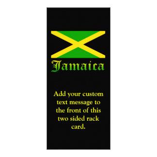 Jamaica Flag, Black, Green and Yellow Rack Card