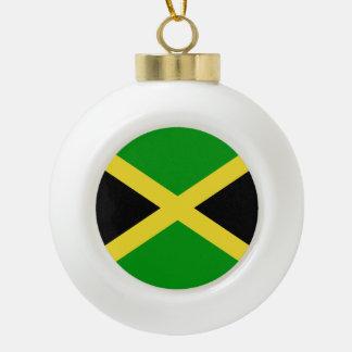Jamaica Flag Ceramic Ball Ornament