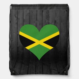 Jamaica flag colored drawstring backpack