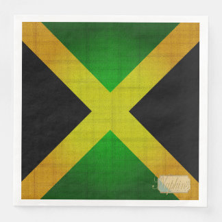 Jamaica Flag Colors Designer Paper Napkins