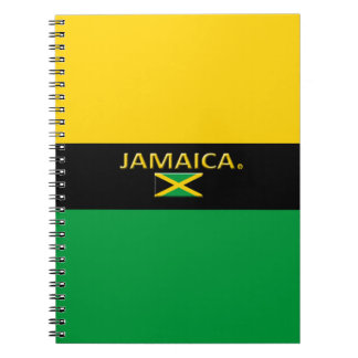 Jamaica Flag Colors Modern Notebook