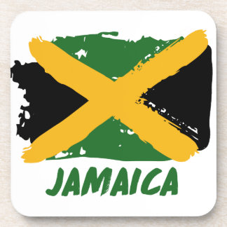 Jamaica flag design coaster