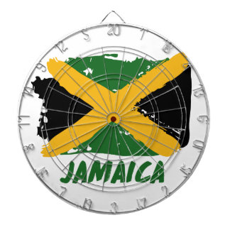 Jamaica flag design dartboard