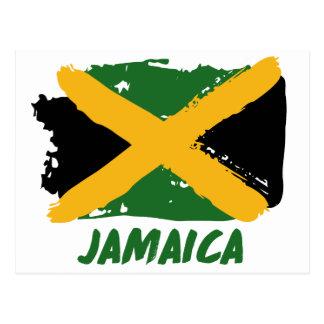 Jamaica flag design postcard