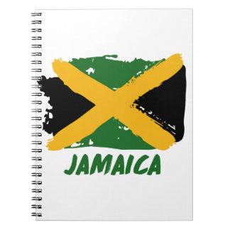 Jamaica flag design spiral note book