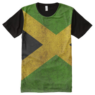 Jamaica Flag Distressed All Over T Shirt