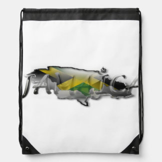 Jamaica Flag Drawstring Bag