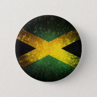 Jamaica Flag Firework 2 Inch Round Button