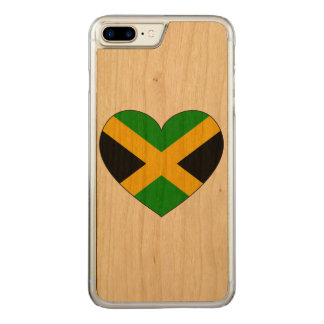 Jamaica Flag Heart Carved iPhone 7 Plus Case