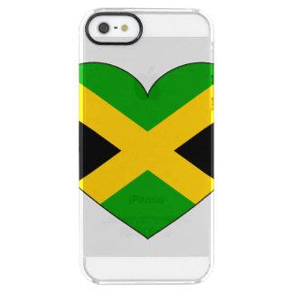 Jamaica Flag Heart Clear iPhone SE/5/5s Case