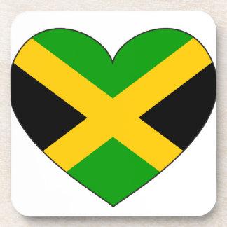 Jamaica Flag Heart Coaster