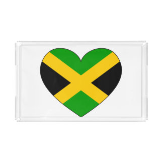 Jamaica Flag Heart Perfume Tray