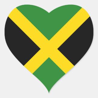 Jamaica Flag Heart Sticker