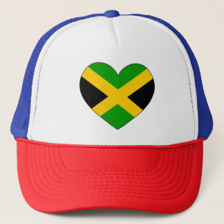 Jamaica Flag Heart Trucker Hat