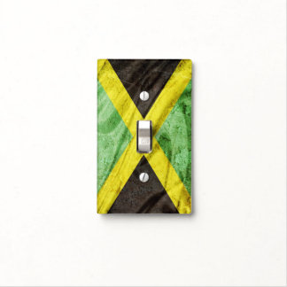 Jamaica flag light switch cover