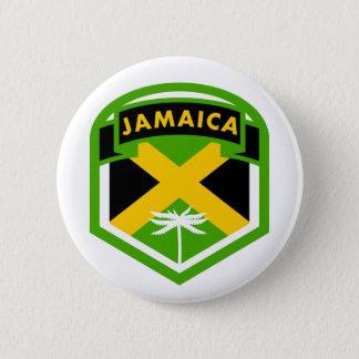 Jamaica Flag Logo Style 2 Inch Round Button