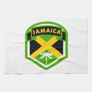 Jamaica Flag Logo Style Kitchen Towel