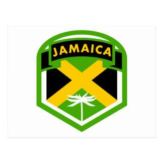 Jamaica Flag Logo Style Postcard