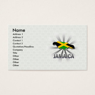 Jamaica Flag Map 2.0 Business Card