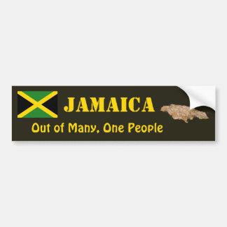 Jamaica Flag + Map Bumper Sticker