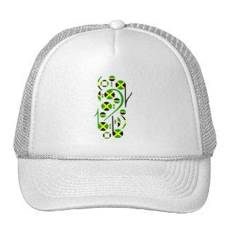 Jamaica Flag Music Notes Mesh Hats