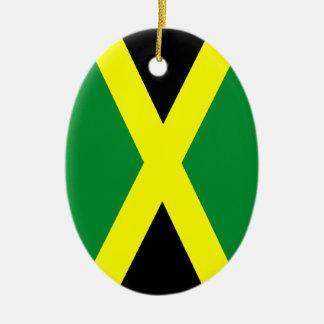 Jamaica Flag Oval Ornament