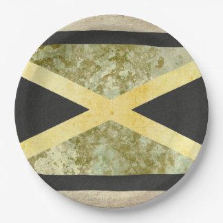 Jamaica Flag Paper Plates