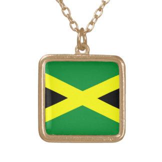 Jamaica Flag Pendant Necklace