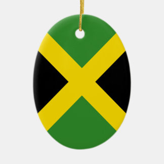 Jamaica flag  products ceramic oval ornament